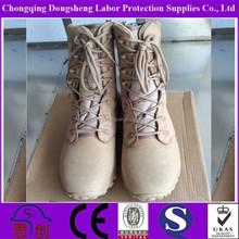 UK style national defense force curve side zipper Beige elite spider military boots