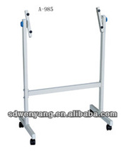 Small mobile whiteboard stand for office