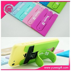 Customized desk phone accessories/phone 3M sticker with card holder/colorful phone holder for promotion