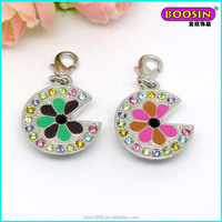 Boosin custom made fancy necklace charm pendant with color crystal #17306