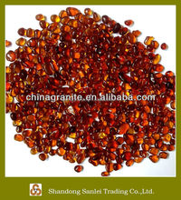hot selling red glass bead for garden decoration