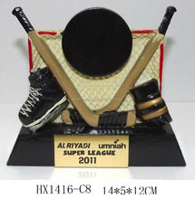 resin ice hockey sports trophy gifts