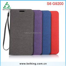 Canvas Thin Leather Case For Samsung S6, for Samsung S6 Ultra Thin Case, Leather Flip Case for S6