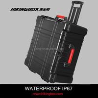 Large case IP67 Hard ABS waterproof plastic big equipment case with precut foam insert HIKINGBOX HTC027
