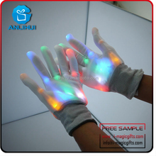 Wholesale Flashing LED neon Gloves as Rave Party Favor