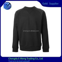 Prewashed Cotton Jersey Stylish Design Men Crewneck No Brand Blank Sweatshirt
