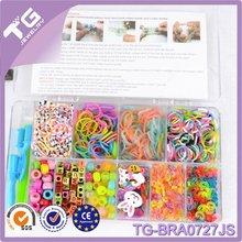 venta al por mayor de bricolaje 2014 colorido baratos telar loco bandas de bandas elásticas kit de accesorios
