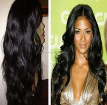 100% Human Hair Glueless Full Lace Wig Brazilian Hair Loose Wave Lace Wig For Black Women