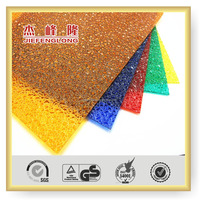 Building Materials Used Commercial Polycarbonate Embossed Sheet For Greenhouse Swimming Pool Cover Bathroom Door