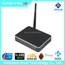 iPush U8 RK3288 Pre-Installed KODI Quad Core WiFi Smart TV 2GB 8GB Media Player Android TV Box