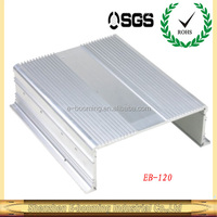 2015 Hot sale aluminum extruded heatsink enclosures for solar power inverter 1000w 5000w in size 160*57mm(W*H)