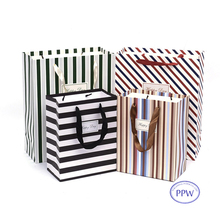 Stripes and Lines Fashion Shopping Paper Bags Custom Design