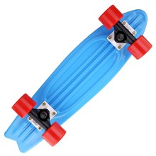 """22 """"Penny style top quality complete round skateboard fish blue tail Penny style Longboard skateboard"""