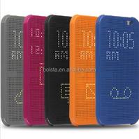 new 2015 5 colors DOT MATRIX VIEW Smart Flip Case for htc desire One E8/M8/M9/820/826/626