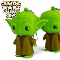 Star wars Master Yoda Light-emitting LED key chain
