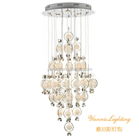 luxury LED glass ball crystal chandelier , antique glass crystal chandelier light for hotel ,decorative glass ball lighting