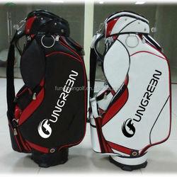 Custom Golf Bag With 100% Slap-up PU And Crystal PU