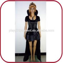 Sexy vestido largo negro vampire girls traje del traje de halloween PGFC-2420