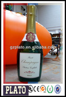 advertising giant inflatable champagne bottle