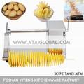 papa espiral de corte de la máquina para las patatas tornado