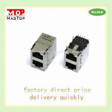 LED/EMI 10/100Base-Tx Multi Port (2x1) RJ45 Shielded Ethernet connector