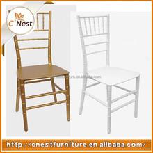 White Resin Pp Polypropylene Chiavari Wedding Hotel Chair
