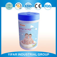 Cheap price wet wipes tissue baby wipes for hand and mouth cleansing in mini canister