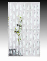 2015 New Modern Design Waterdrops Handmade Hotel Glass wall mirror decorative
