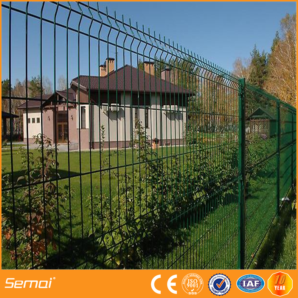 Steel mesh fence triangle bending fence 3d curved for 3d fence