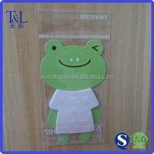 Packaging sticky note OPP plastic header bag with hanghole, can customized for Christmas packaging gift