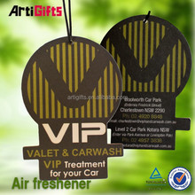 Best quality absorbent new car scent hanging paper car air freshener