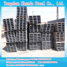 hot rolled mild steel u channel size 160mm 180mm 200mm jis standard grade Q235B, SS400, Q235, Q345, Q345B, A36, S235 factory