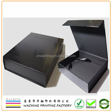 Custom Luxury Leather Paper Black Gift Box