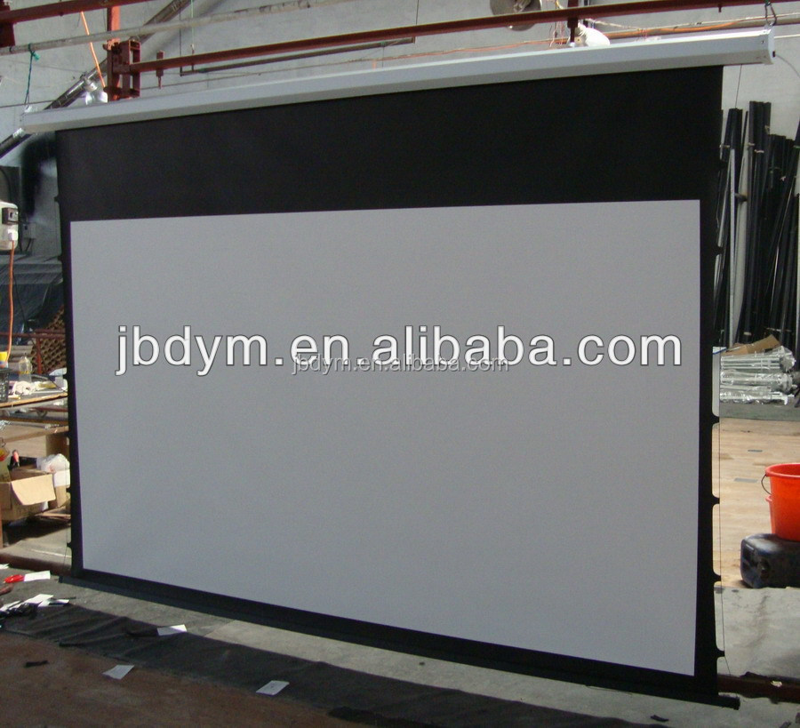 Sof Pvc 120 Inch 100 Inch Motorized Tab Tension Projection