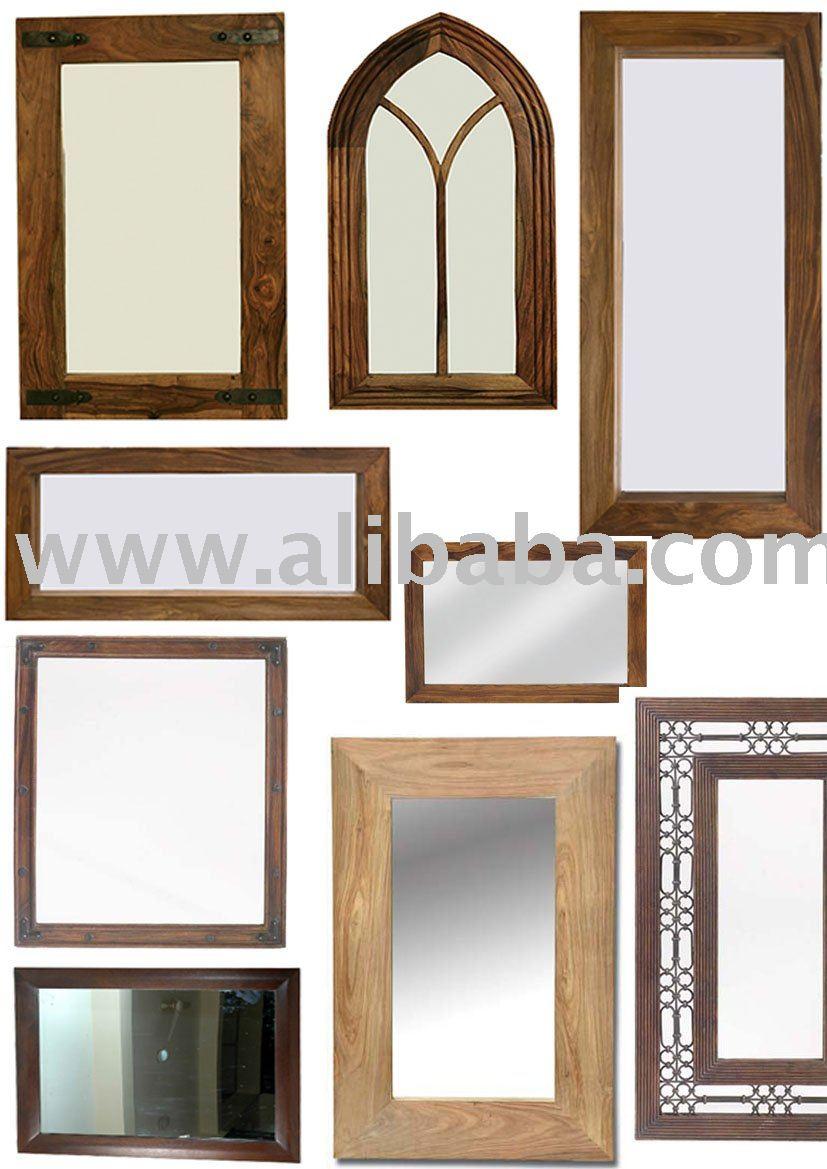 Wooden frame wooden mirror frame sheesham wood mirror for Wooden mirror frames for crafts