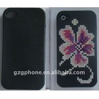 2011 new design cross stitch tup case for iPhone 4