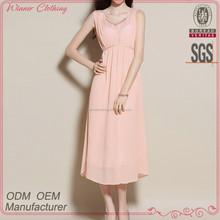 elegant mature beaded neck latest dress designs for ladies summer 2015
