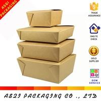 alibaba china custom cheap brown kraft disposal paper salad box