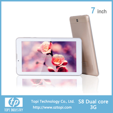 7 inch dual core android tablet pc 1.2Ghz 3000mah tablet pc mtk 8312 tablet