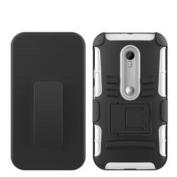 Rotation Phone Case For Motorola G3 Hard Plastic Case / Holster Case For Moto G3 Belt Clip Case / Heavy Duty Case For Moto G3