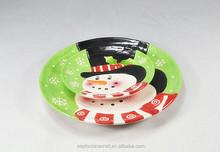 wholesale glazed interesting Christmas theme cartoon ceramic butter dish