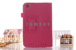 Hot Selling PU Leather Folio Pouch Case Cover Stand for Lenovo A3000 A3300 A3500 A5500 S6000