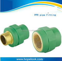Free sample China suppliers all size green/white/gray threaded plastic pipe fitting
