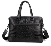 new arrival crocodile skin genuine leather man leather handbag business briefcase