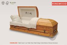 CEDARLAND Solid Wood funeral Casket hand carved wooden casket