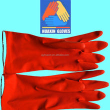 non sterile latex gloveslatex rubber coated work gloves;Cheap red Latex Household Glove;brush cleaning glove