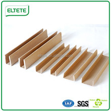 100% recycle U shape paper angle board to protect the glass,solar panel,furniture etc