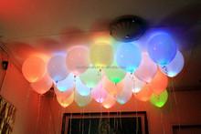 Flashing LED Light Balloons, Party Decoration Floating LED Balloon ,Light Up Balloons