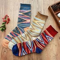 2015 New European Fashion Men&Women's Harajuku Style Printing Art Sock Cotton Casual womens decorative socks