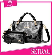 Good market lady shoulder bag/wallet 2 pcs in 1 set bags,2015-latest fashion handbags